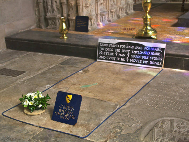 Shakespeare's tombstone in Holy Trinity Church