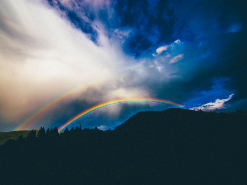 Bereaved dads Father's Day rainbows