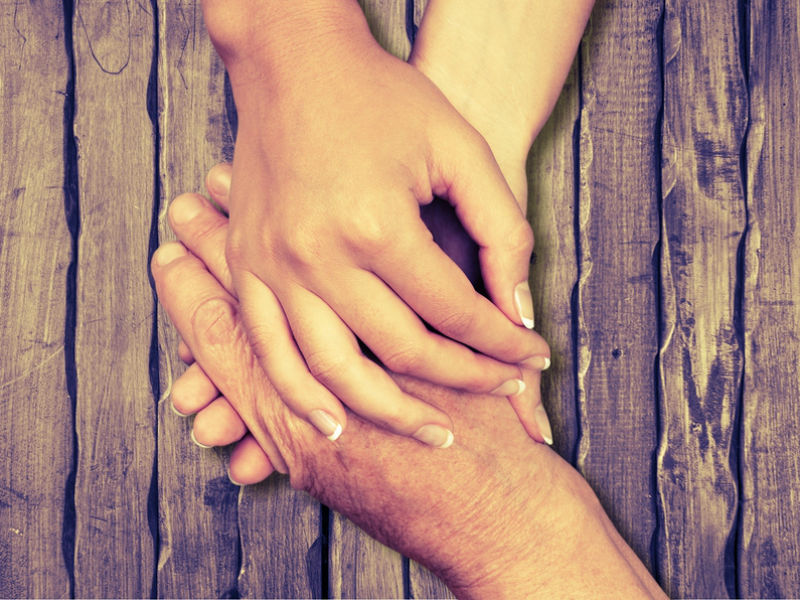 Bereaved dads Father's Day- hands of comfort