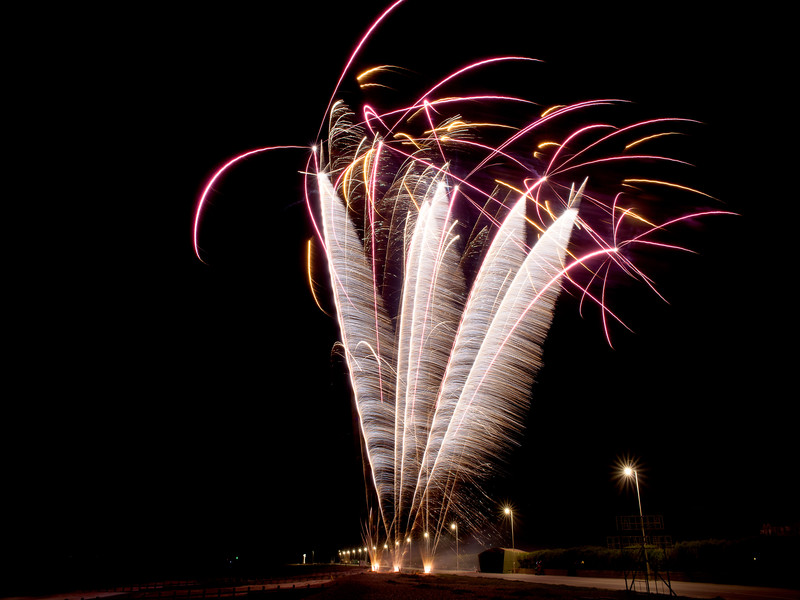 These fireworks resemble plumes of feathers