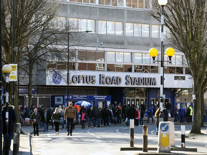 football funeral- exterior photo of QPR stadium