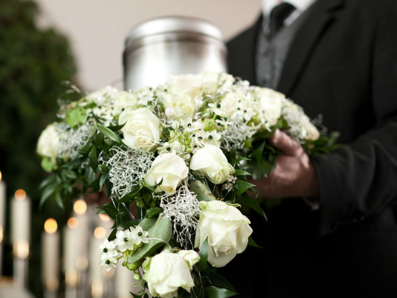 a funeral director