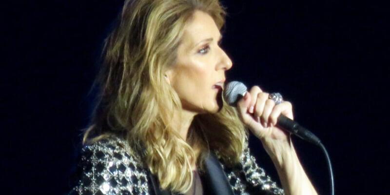 Celine Dion singing a ballad