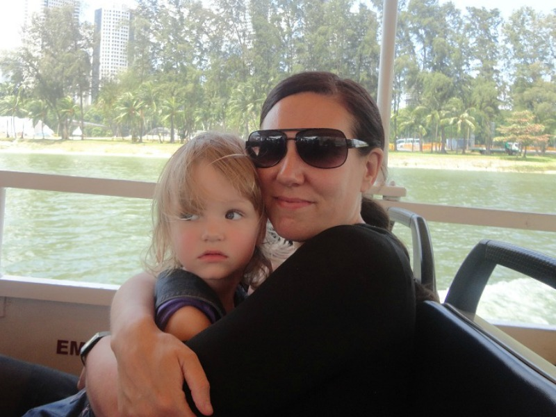 Gina Scull pictured with her daughter
