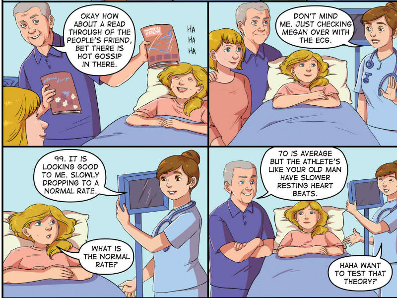 Close to the Heart comic- a hospital checkup scene