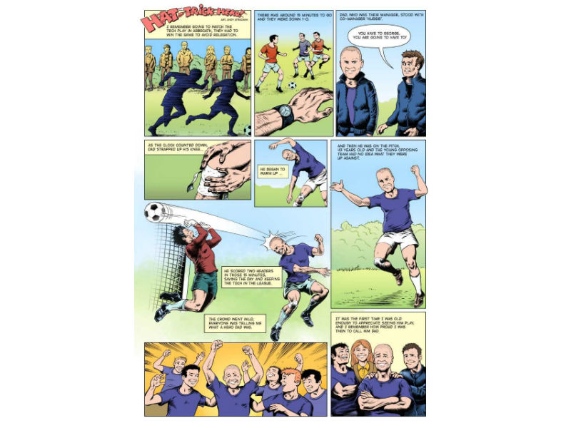 close to the heart comic- family memories depicted Roy of the Rovers style
