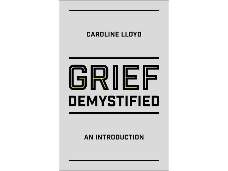 cover shot of caroline Lloyd's book Grief Demystified
