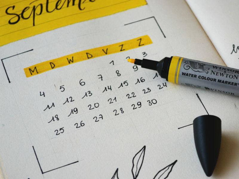 grief-in-six-words - calendar