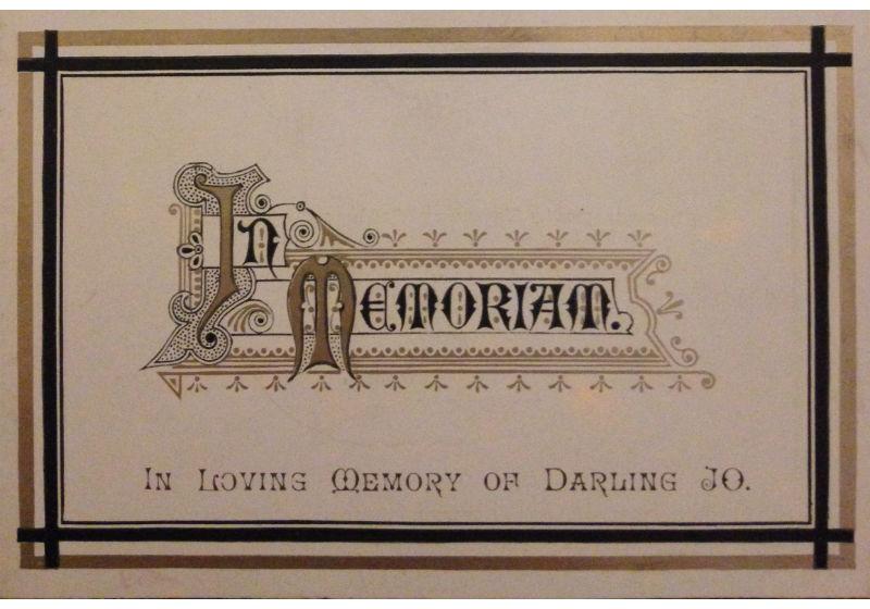 a memorial card