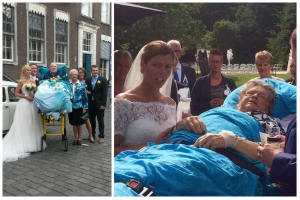 Patients on stretchers attending family weddings as their last wish