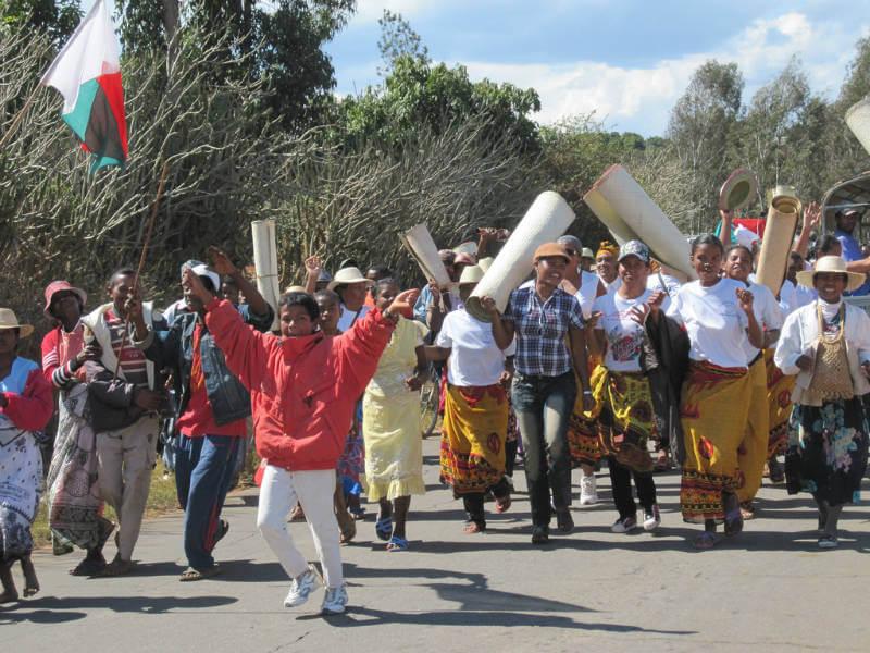 A Famadihana procession