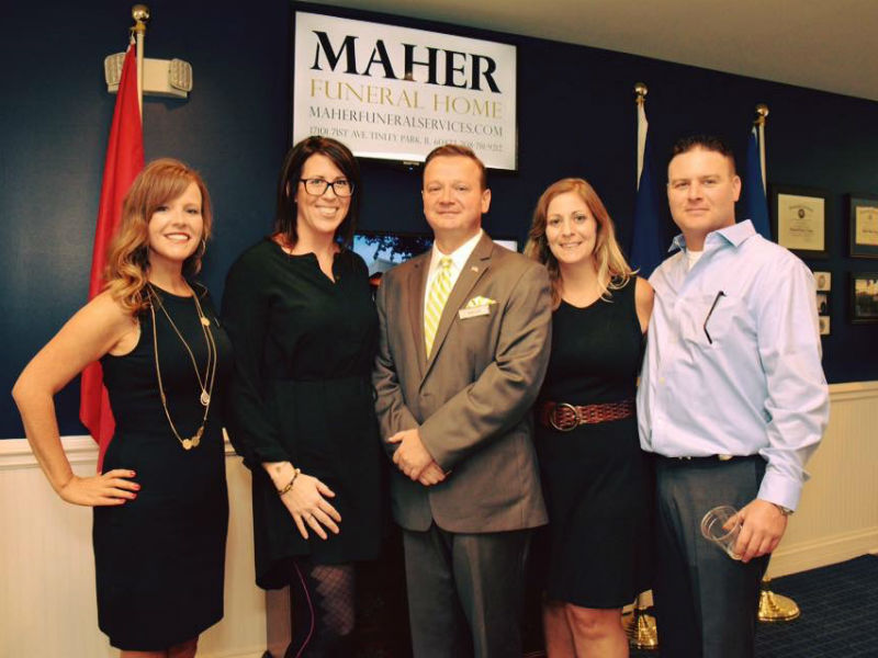 Funeral director Phillip Maher and his team
