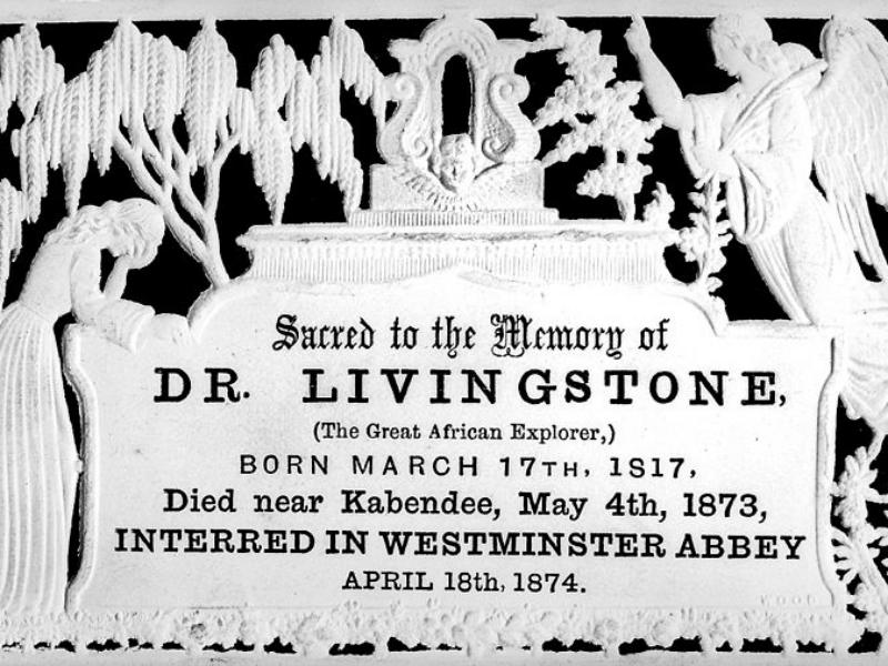 David Livingstone mourning card