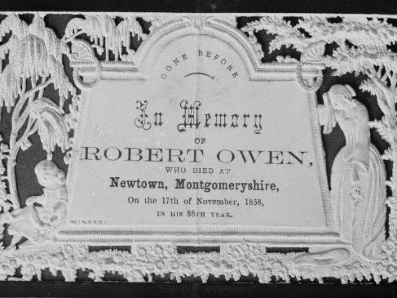 Robert Owen mourning card 1858