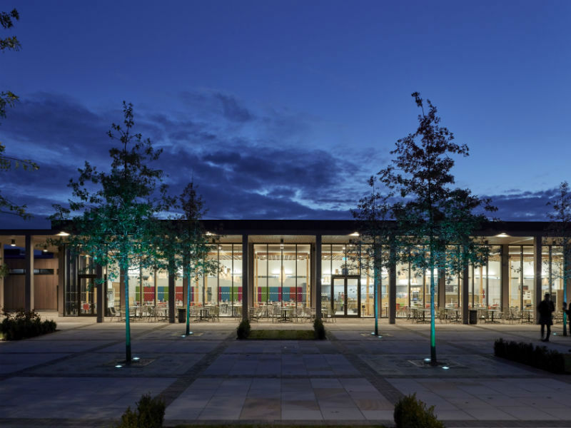 the visitor centre at the National Memorial Arboretum