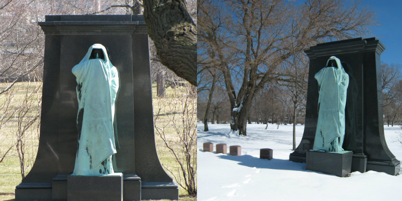 Bronze Statue Designed By Lorado Taft In Graceland Cemetery