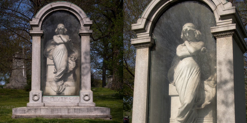 Luyties memorial scultpure in Bellefontaine Cemetery