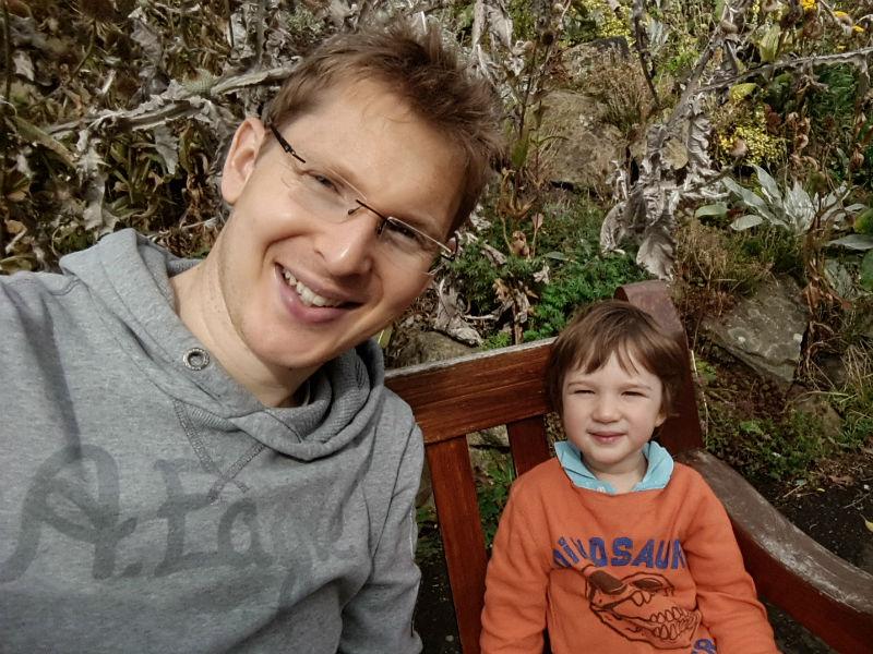 Harry Broadbent senior and junior