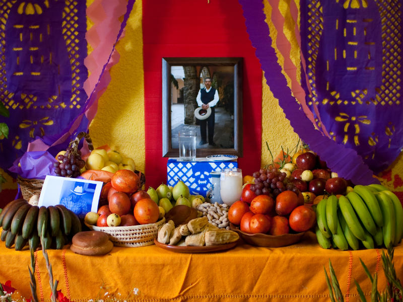 Traditional ofrenda for Day the Dead