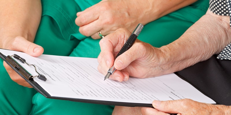 Signing an advance health care directive