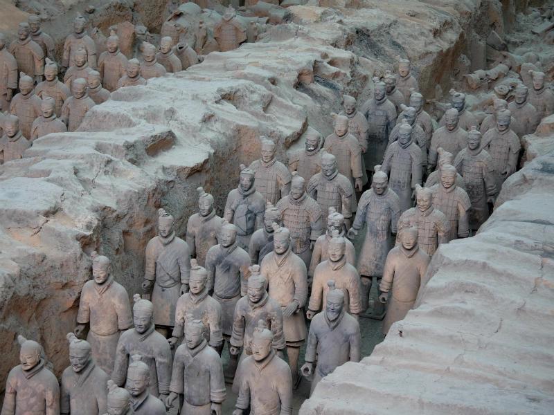 Terracotta army of Emporer Quin Shi Huangti