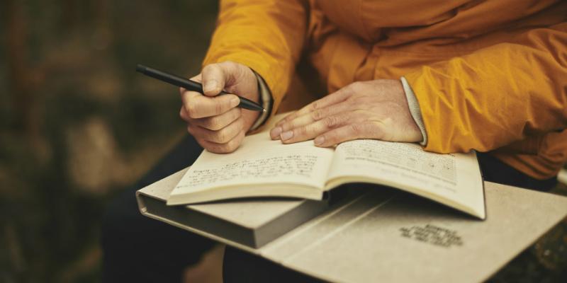 Witing ina diary