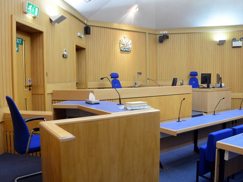 Interior view of Surrey Coroner's Court, whilst empty