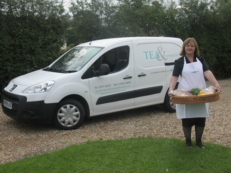Kim Clark, pictured in front of her delivery van