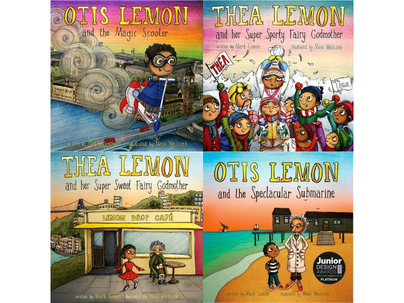 Otis Lemon and Thea Lemon books montage