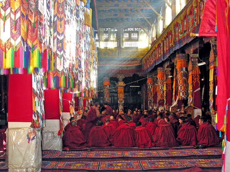 Inside a Tibetan monastery