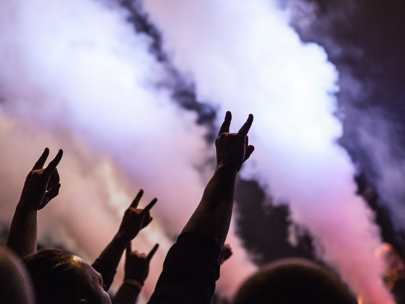 scatter cremation ashes at a concert