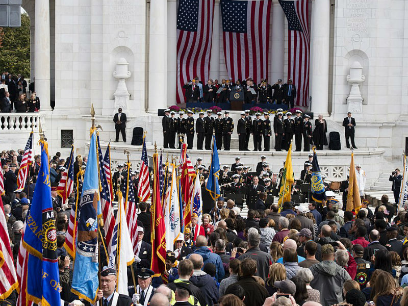Veterans day at Arlington National Cemetery