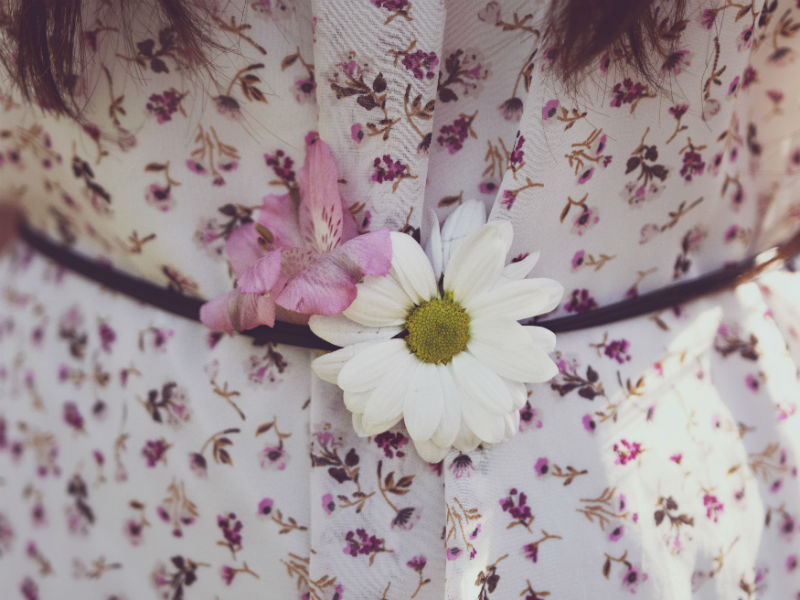 what to wear to a funeral - floral dress gfor a celebration of life