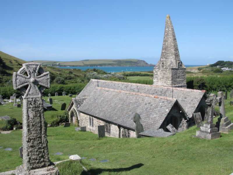 St Enodoc church and graveyard, Cornwall