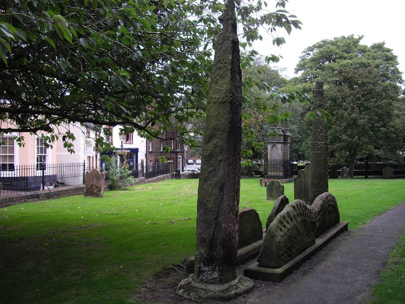 The Giant's Grave in Cumbria is marked by pillars of stone