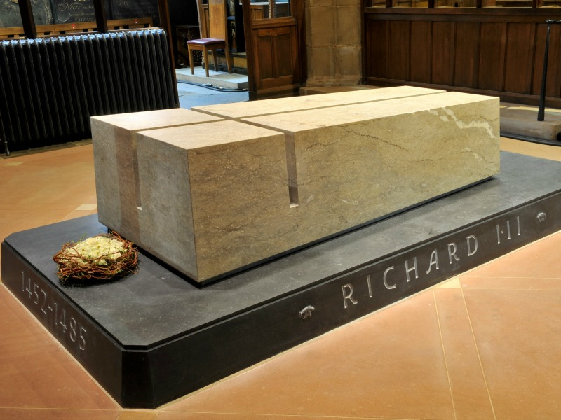 Richard III was laid to rest in his new Leicester Cathedral tomb in 2015